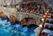 mağarada romantik yemek