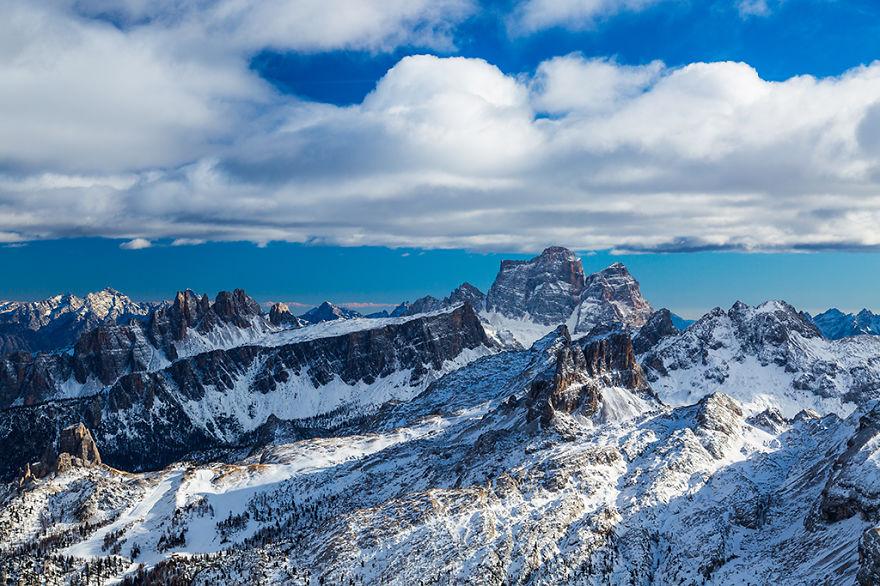 Alplerin sakin köşesi Dolomitlerde kış başkadır [Video]