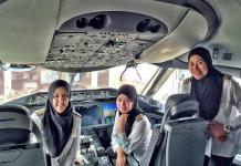 kadın pilot ekibi