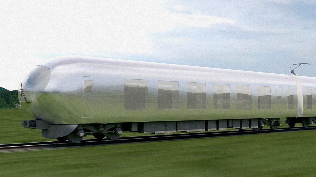 görünmez tren japonya