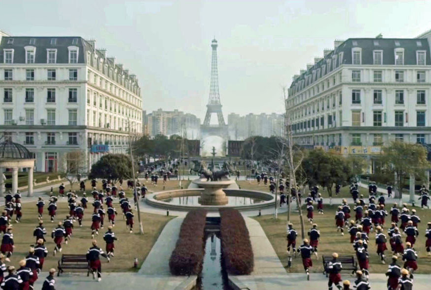 klon şehir Tianducheng paris