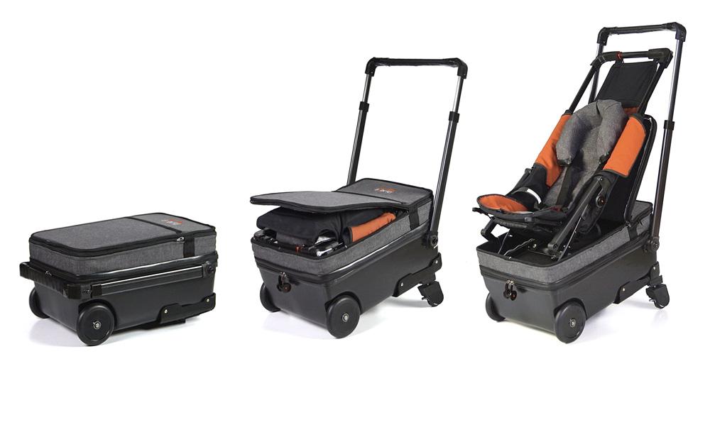 bebekli yolcu için pusetli valiz