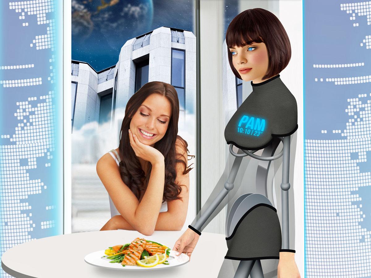 akıllı otel robot