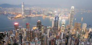 Hong Kong gökdelen uluslararası hat