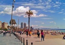 barselona barcelonetta sahil şehri şehir plajı