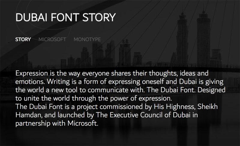 Dubai Font Dubai yazı fontu