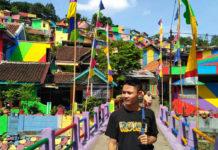 kampung pelangi gökkuşağı köyü endonezya