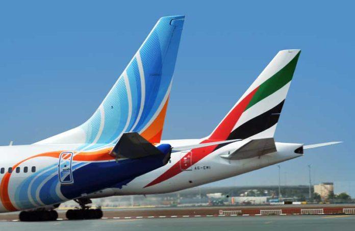 Emirates flydubai sivil havacılık uçuşlar durduruldu