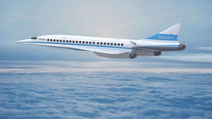 Boom supersonic jet uçak