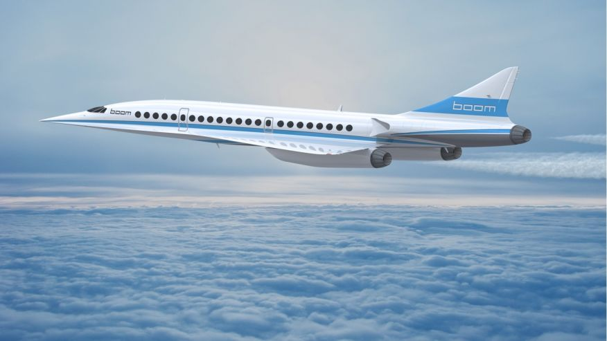 Boom supersonic jet uçak