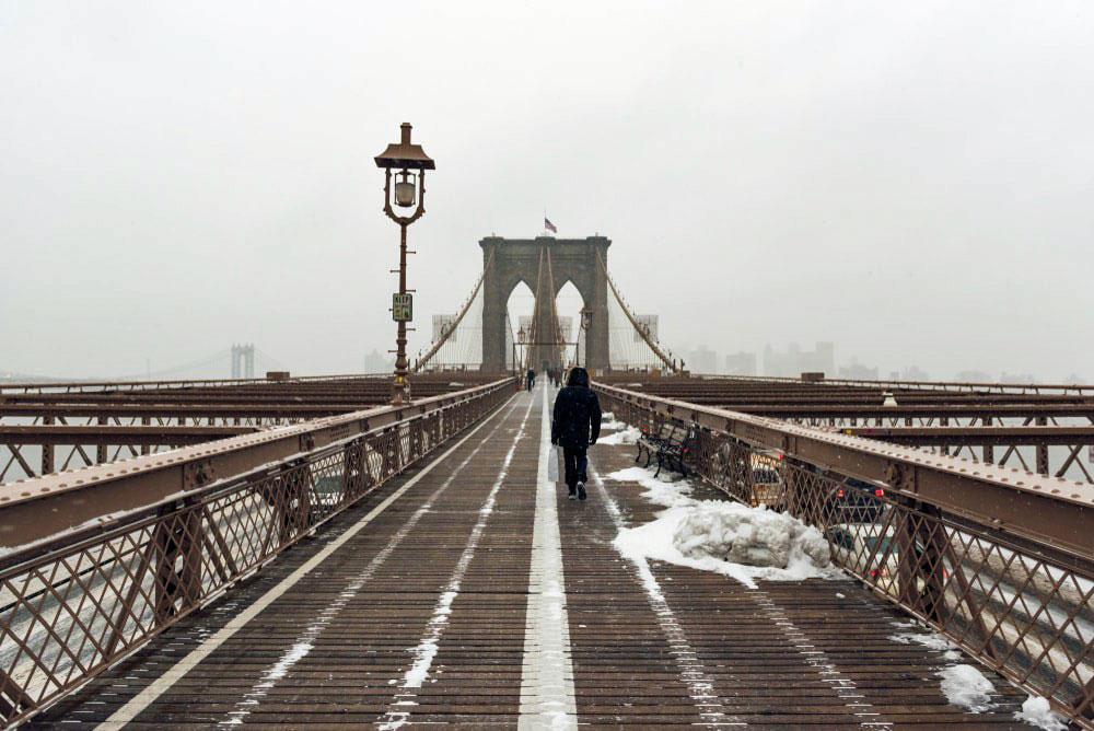 New York kar brooklyn köprüsü