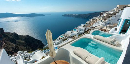 özel havuzlu oda santorini yunan