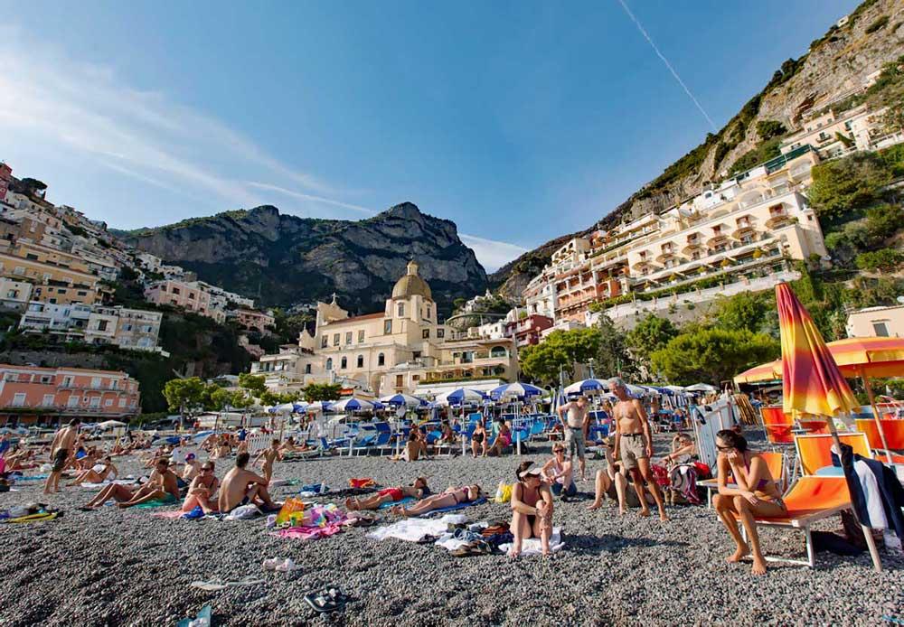 Avrupa plajları Amalfi Positano plaj