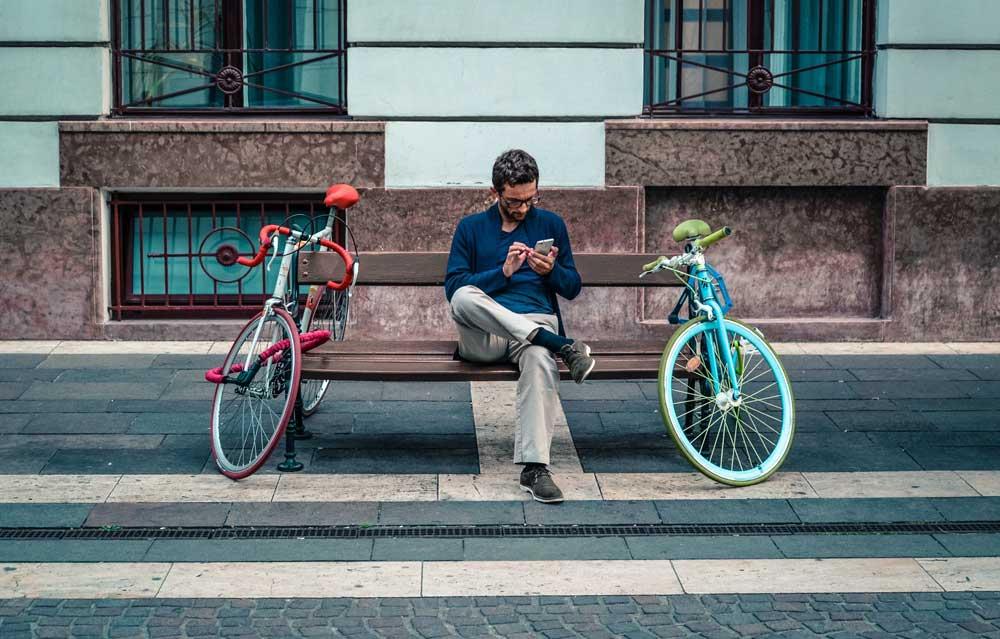 akıllı telefon bisiklet