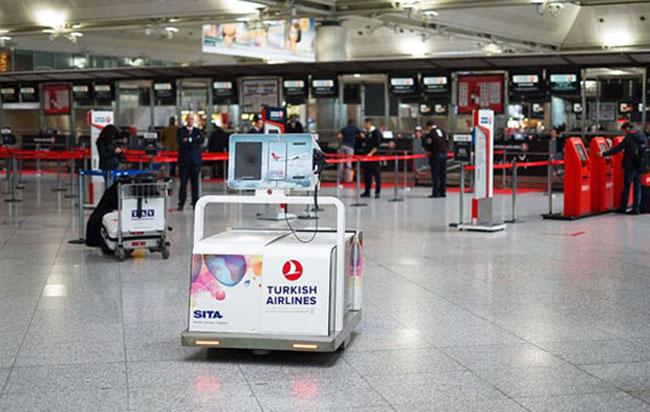 bagaj robotu leo türk hava yolları