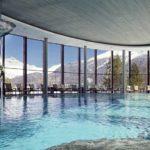 isvicre kış otel havuzu