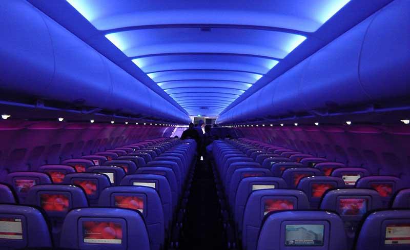 yolcu uçakları kabin