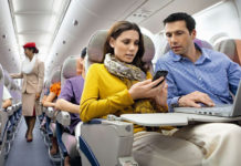 uçakta internet