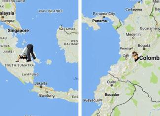 antipod haritası