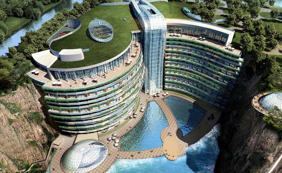 Dünyanın ilk yeraltı oteli Şanghay'da açılıyor [Video]