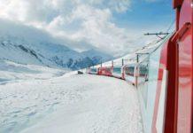 tren yolculuğu glacier express tren