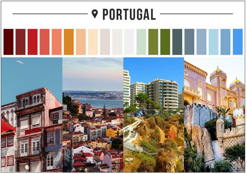 Portekiz renk paleti