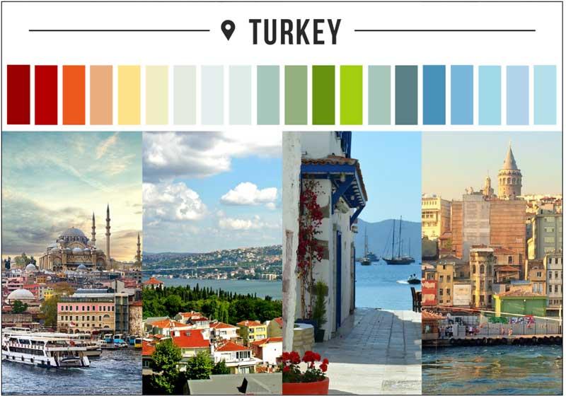türkiye renk paleti
