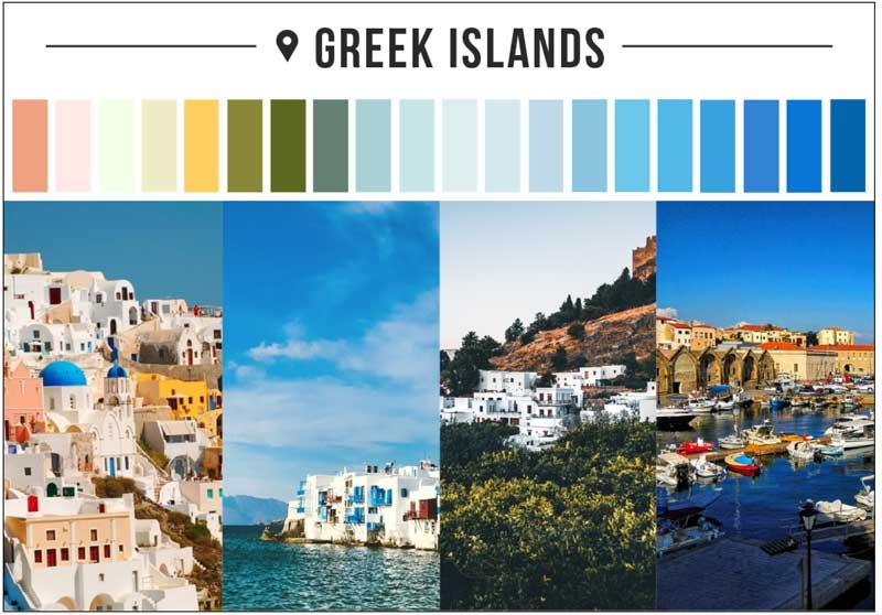 yunan adaları renk paleti