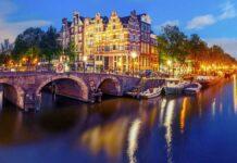 hollanda amsterdam kanallar