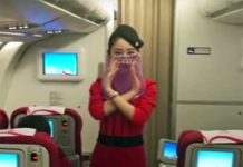 Sichuan Airlines hostes peçe