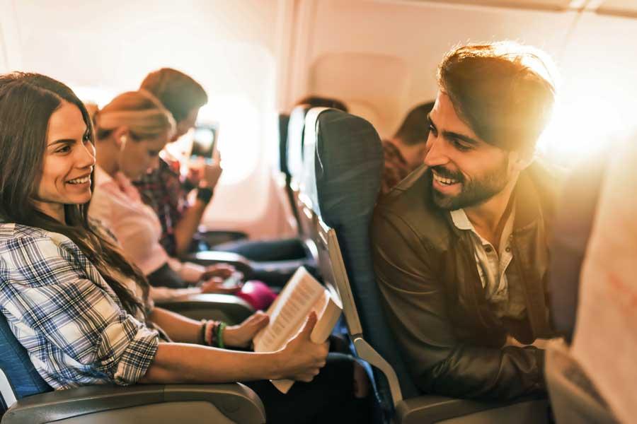 uçakta yolcu