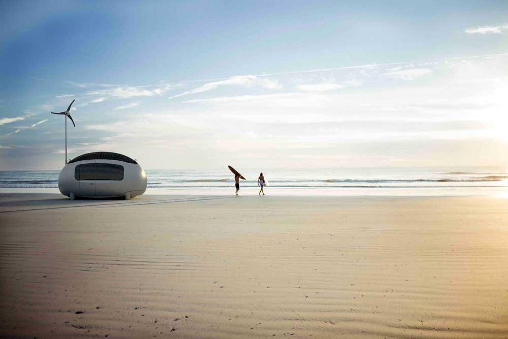 Ecocapsule çevreci tatil karavanı