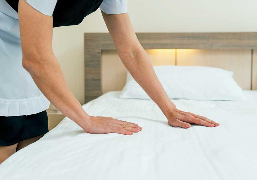 otel oda temizliği oda servisi yatak