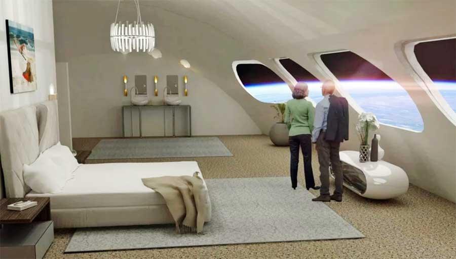 uzay oteli odası