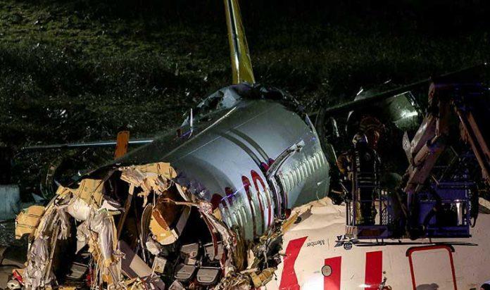 pegasus basın sabiha gökçen havalimanı kaza