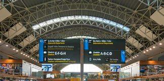 koronavirüs önlemleri sabiha gökçen havalimanı yolcu salonu